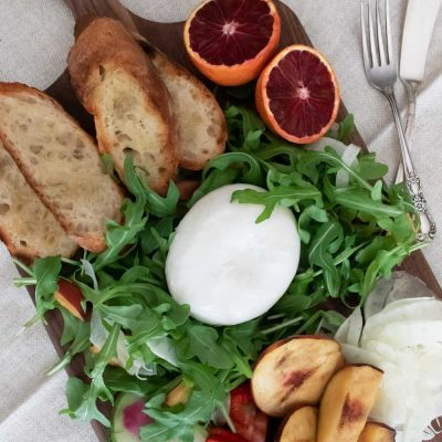 Summer Burrata Salad Board
