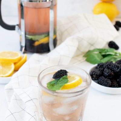 Blackberry Basil Sangria (with a French Press)