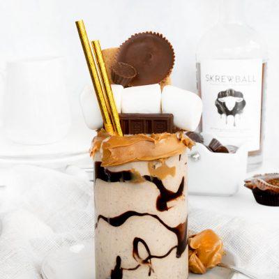 Boozy Chocolate Peanut Butter Milkshake