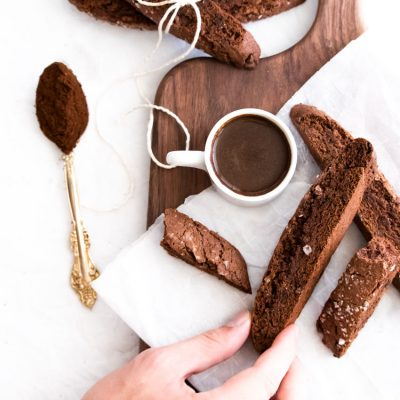 Double Chocolate Sea Salt Biscotti