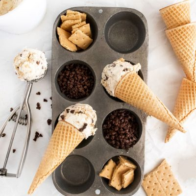 Chocolate Chip Cheesecake No Churn Ice Cream