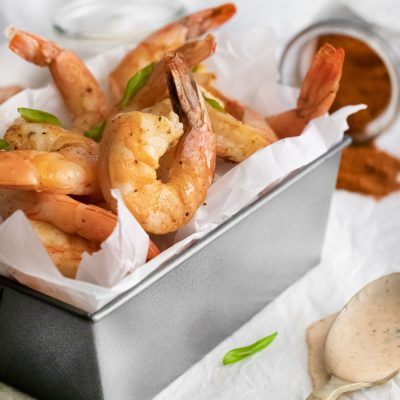 Oven Roasted Shrimp with Easy Lemon Aioli