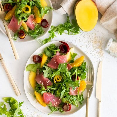 Tuna Crudo Salad with Mango & Ponzu