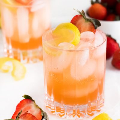 Strawberry Lemon Smash Cocktail